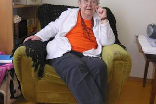 Alica Válkyová sa aj teraz snaží byť klientom v hospici  užitočná.