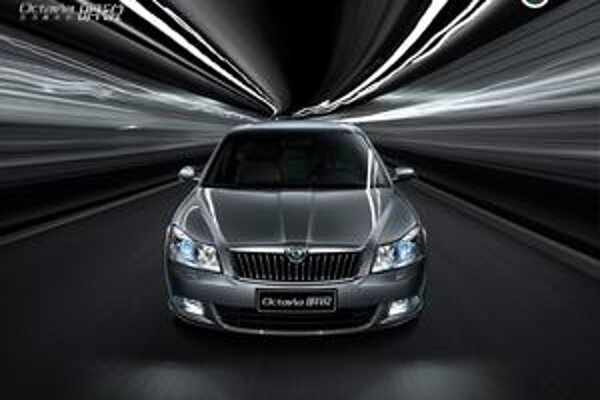 Škoda Octavia MingRui. Octavia je na čínskom trhu najpredávanejším modelom značky Škoda.