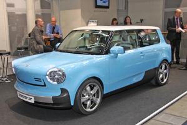 Prototyp Trabant nT. Svojimi tvarmi pripomína nový trabant pôvodný model Trabant Universal.