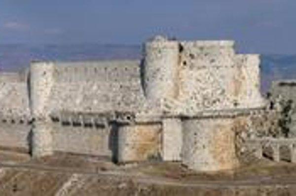 Pevnosť Krak des Chevaliers. Bol to najväčší križiacky hrad.