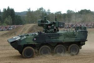 Obrnený transportér Pandur II. Česká armáda dostane 107 týchto transportérov v šiestich verziách.