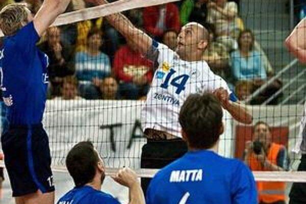 Finále. Nahrávač Marek Kardoš bol oporou VKP.