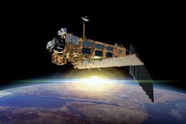 Kresba družice Envisat. Európska vesmírna agentúra predĺžila misiu Envisat do roku 2013.