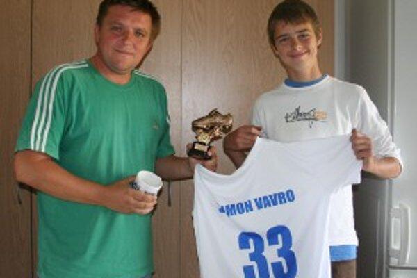 Tréner Tibor Žiak s 33-gólovým strelcom.