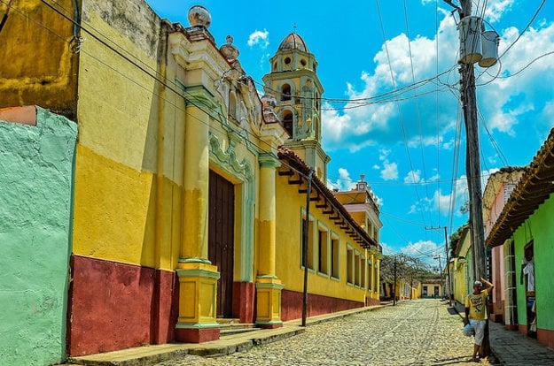 Pestrofarebná ulica v Trinidade.