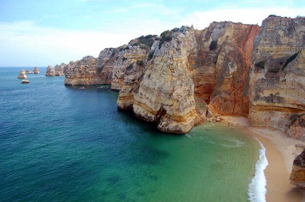 Pobrežie v Algarve, Portugalsko.