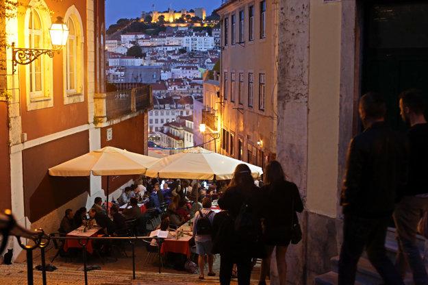 Večerný Lisabon.