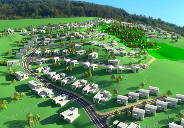 Vizualizácia novej štvrte.