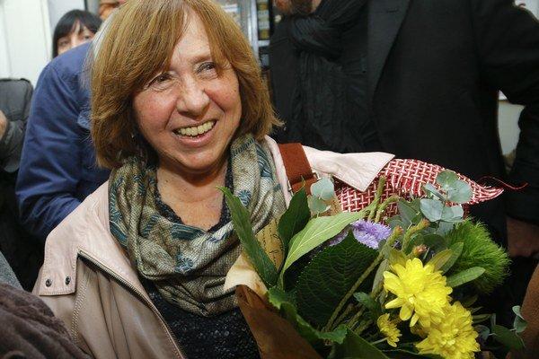 Svetlana Alexijevičová, laureátka tohtoročnej Nobelovej ceny za literatúru.