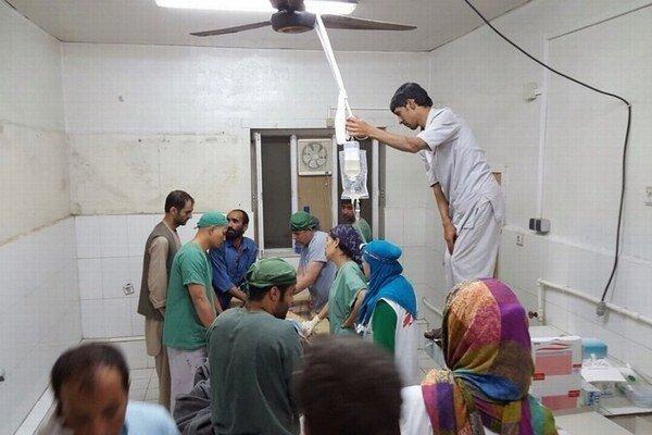 Zničená afganská nemocnica Lekárov bez hraníc.