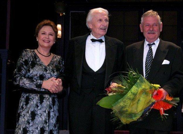 Milka Vášáryová, Ladislav Chudík aJuraj SlezáčekObaja páni sú už členovia nebeského divadla.