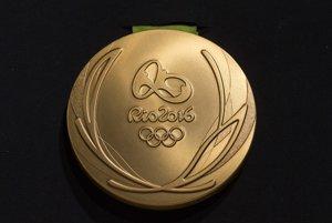 Zlatá medaila z olympiády v Riu de Janeiro.