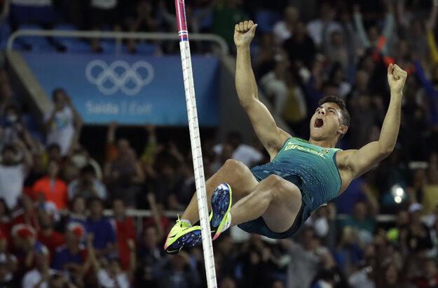 da Silva mal z prekonanie osobného rekordu obrovskú radosť ešte pred dopadom.