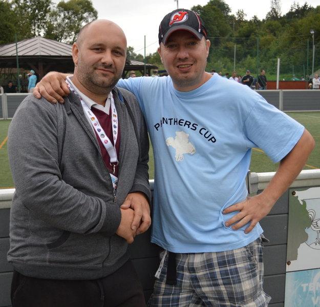 Spokojní organizátori Ján Ligač (vľavo) a Norbert Chovanec.