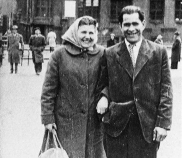 Irena Čubírková s druhom Ambrózom Ščepkom, ktorého zavraždila v roku.