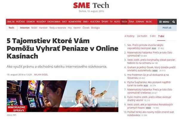 Pozor na falošné články, ktoré sa tvária ako autorské texty SME.