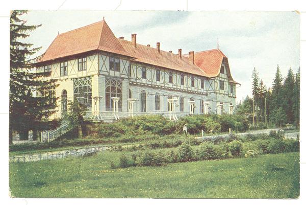 Hotel Lomnica na jednej z dobových fotografií.