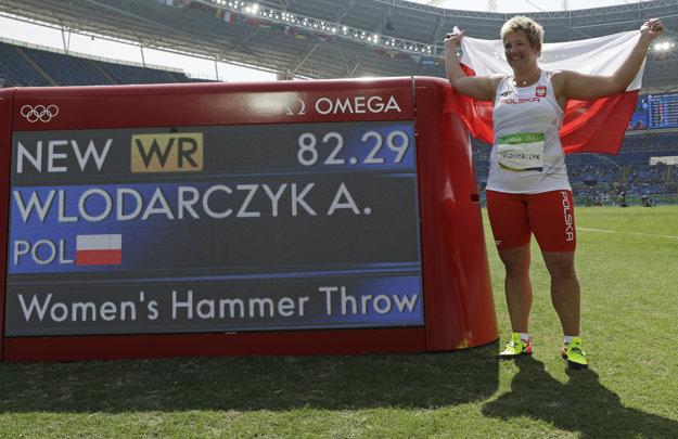 Anita Wlodarczyková v Riu zlepšila svetový rekord v hode kladivom.