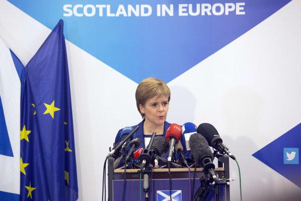Škótska premiérka Nicole Sturgeonová.