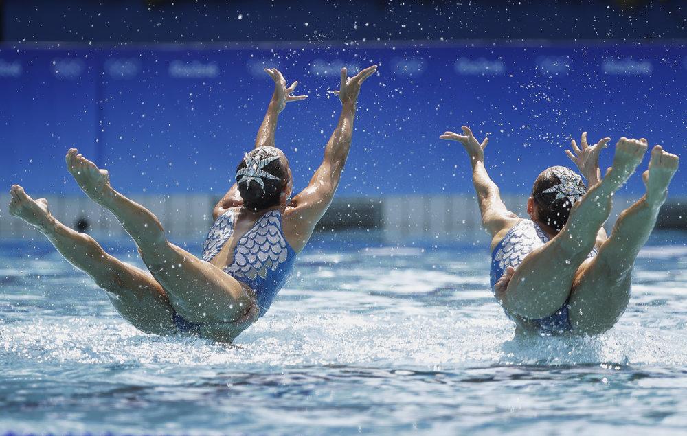 Synchronizované plávanie, vystúpenie ruského tímu.