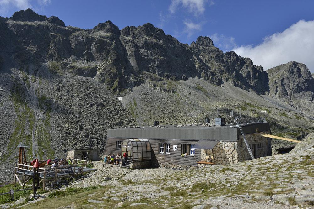 Zbojnícka chata (vpravo), ktorej na streche pribudla automatická meteorologická stanica.