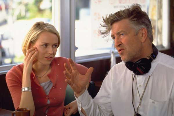 Naomi Watts a režisér David Lynch spolu nakrútili Mulholland Drive.