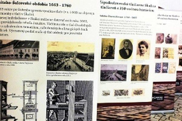 Z výstavy k 350-ročnici kníhtlačiarne v Skalici.