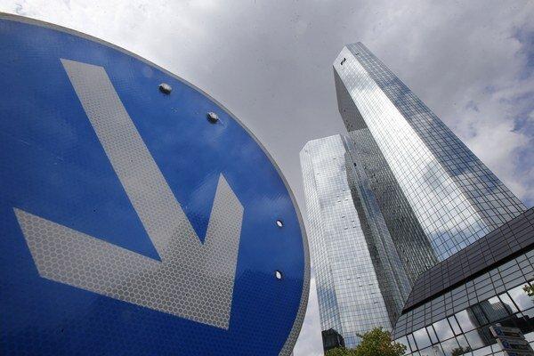 Deutsche Bank vo Frankfurte nad Mohanom.