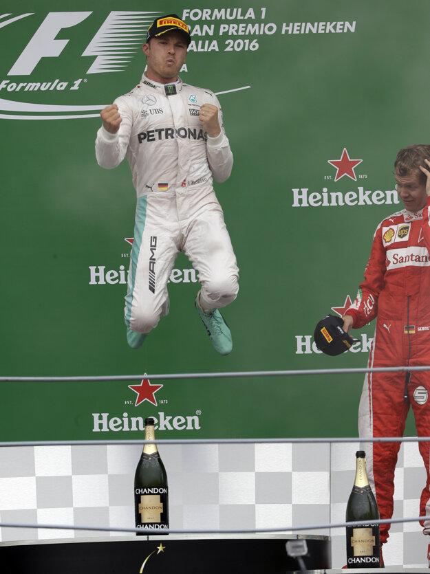 Rosberg sa teší z víťazstva na okruhu v Monze.