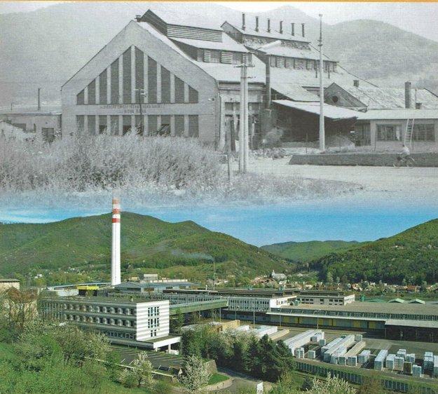 Porovnanie: Závod v minulosti (hore) a v súčasnoti (dolu).