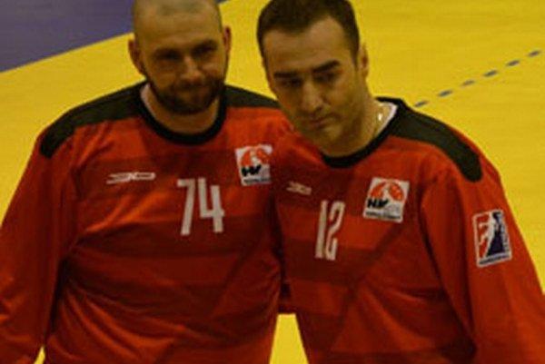 Brankárska dvojica Topoľčian Michal Meluš a Richard Štochl.