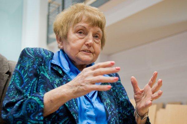 Na snímke Eva Korová, ktorá prežila koncentračný tábor Auschwitz.