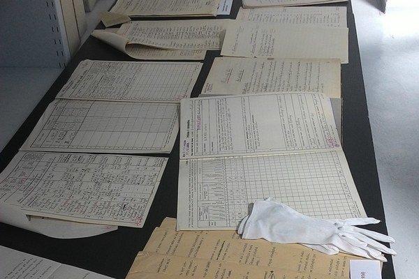 Vystavených bolo množstvo archívnych dokumentov.