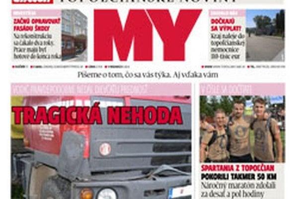 1ae5dbce0 Aktuálne vydanie MY Topoľčianskych novín Dnešok v predaji od utorka.