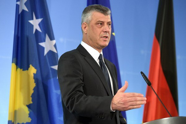 Kosovský minister zahraničných vecí a vicepremiér Hashim Thaci.