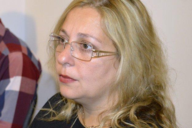 Martina Balogová z Krajskej asociácie rómskych iniciatív v Banskej Bystrici.
