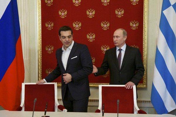Grécky premiér Alexis Tsipras si so svojím ruským partnerom porozumel. Nič však nedohodol.