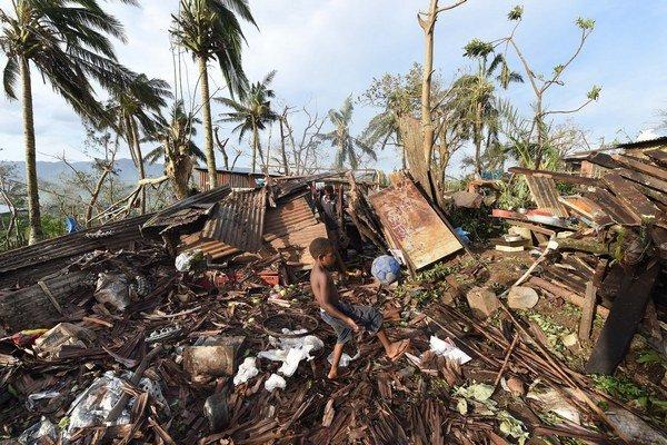 Zničený ostrov Vanuatu.