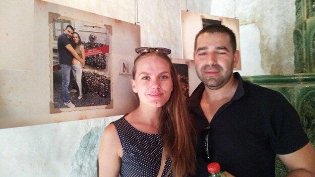 Alena a Vlado z Makova. Aj oni poslali svoju fotografiu z Banskej Štiavnice.