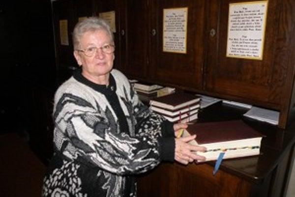 Jozefína Majtenyiová robí kostolníčku takmer šesť rokov.