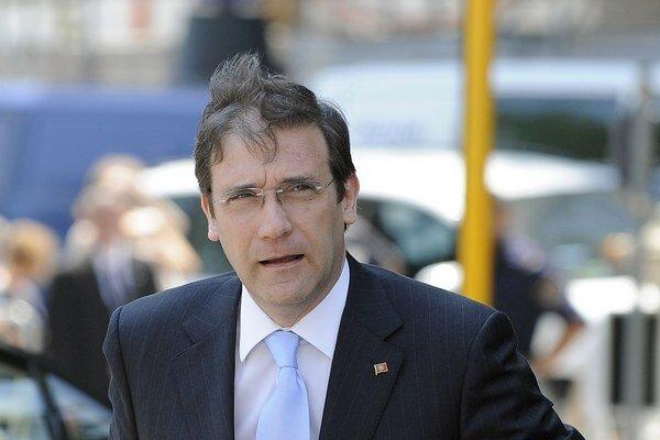 Portugalský premiér Pedro Passos Coelho prichádza na summit Európskej ľudovej strany (EĽS) vo Viedni.