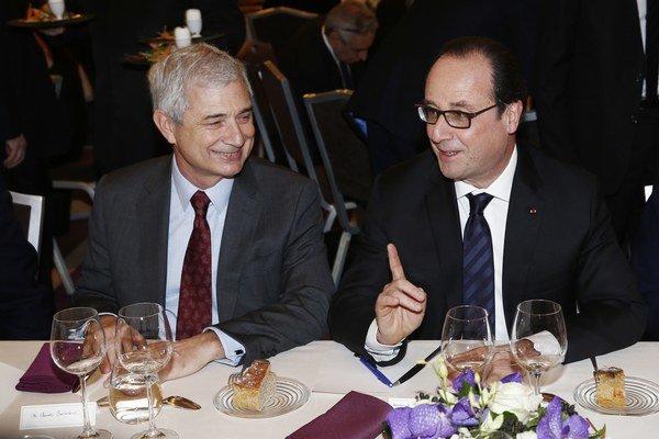 Na večeru Rady francúzskych židovských inštitúcií prišiel aj prezident Hollande.
