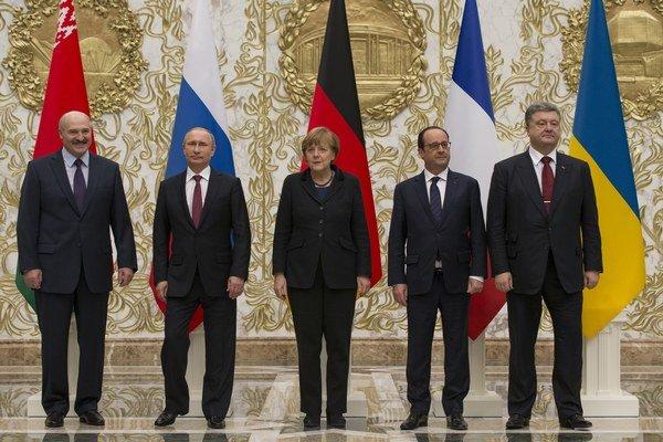 Lídri Bieloruska, Ruska, Nemecka, Francúzska a Ukrajiny.