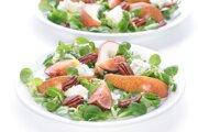 Šalát s pečenými hruškami a gorgonzolou