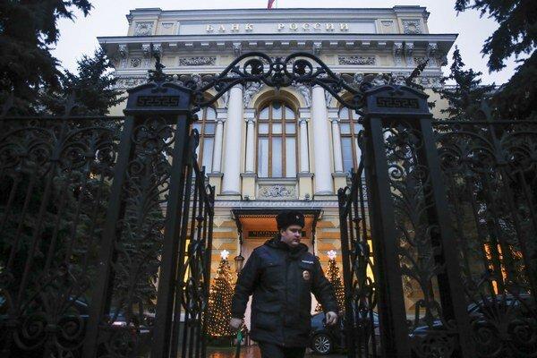 Centrálna banka v Moskve.