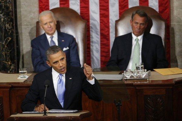 Proti Obamovi budú stáť republikáni na čele s Johnom Boehnerom (vpravo hore).