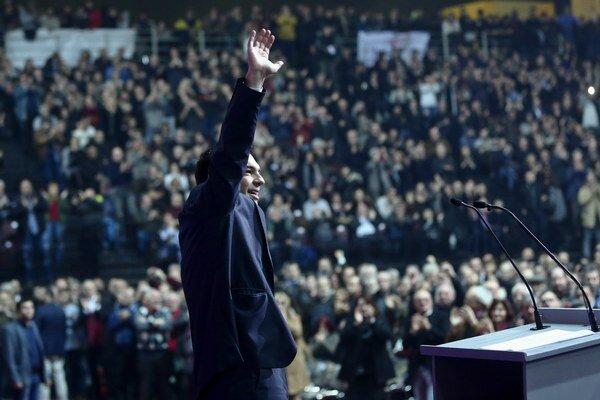 Líder strany SYRIZA Aléxis Tsípras.