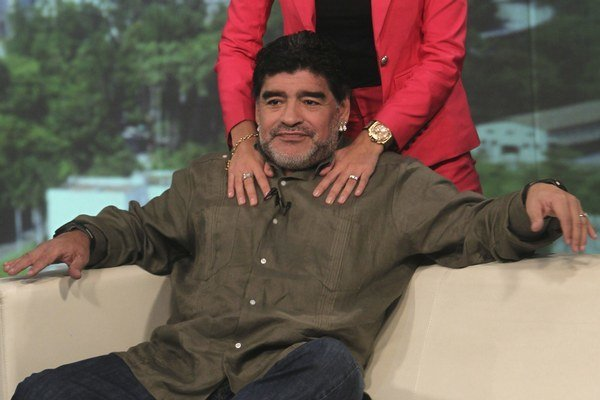 Maradona v televíznej šou, ktorú nakrúca na Kube.