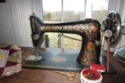 Starý šijací stroj.