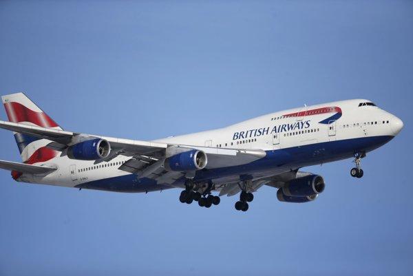 Lietadlo britských aerolínií British Airways.